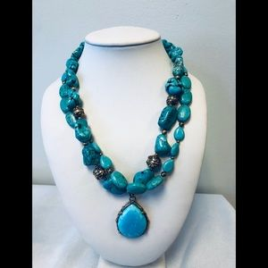 "Barse 17"" double strand necklace"